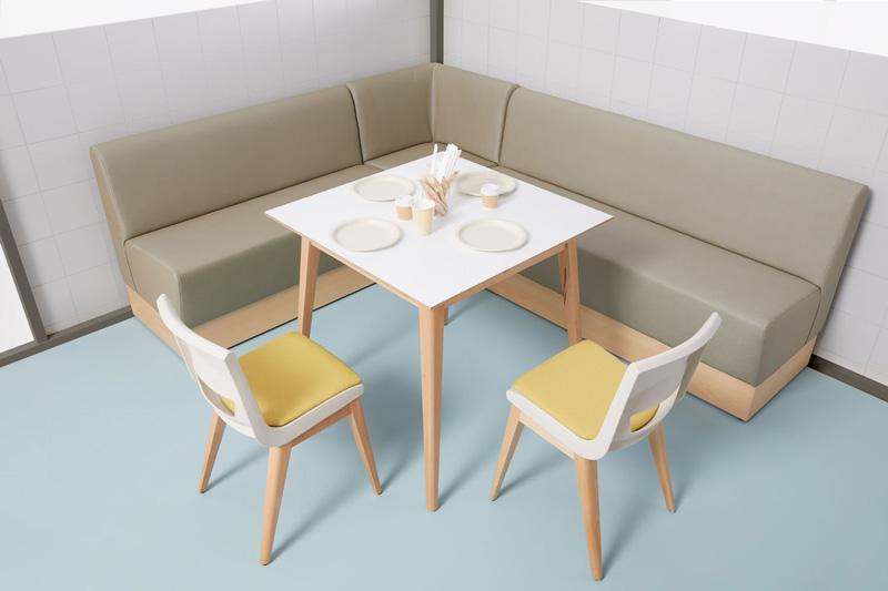 Sofá comedor largo - Federico Giner | Fabricante de mobiliario escolar